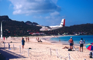 Flying to St Barths is just part of the adventure. Lounge on St. Jean Beach and watch the planes descend to the runway, almost close enough to touch.