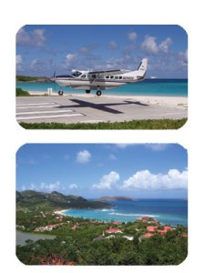 Tradewind plane and St. Barths