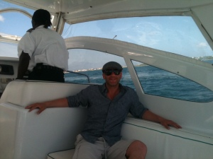 Ben on a Private Boat transfer from St. Martin to Anguilla!